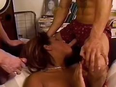 Tranny hottie poked by handsome stud