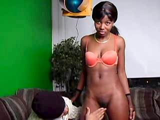 Ebony hottie takes up huge ramrod