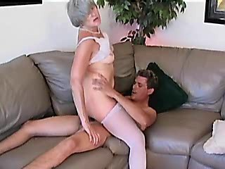 Ass nailed milf gets cum in mouth