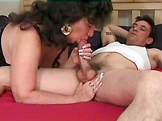 Freaky looking mature blows hard