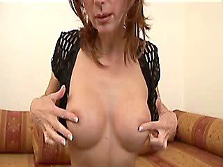 Slim brunette milf takes dick ride