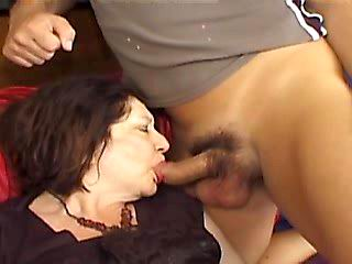 Granny tastes dick and gets fucked