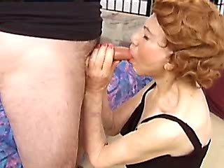 Cute milf hangrily blows hot guy